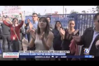 San Diego Fast-Food Workers Claim Retaliation After Strike (Dec 5, 2014) – KSWB