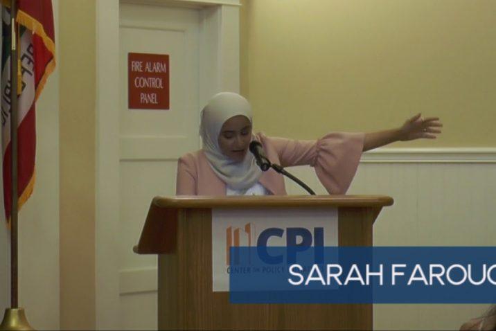 Sarah Farouq spoken word at SEJ 2017 graduation