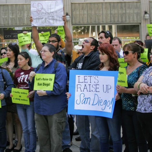 San Diego residents unite to raise wages at San Diego City Hall