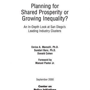 Planning for Shared Prosperity or Growing Inequality? (2000)