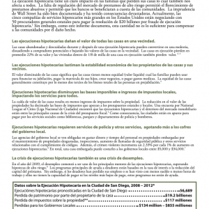 La Ejecución Hipotecaria: El costo que pagan nuestras comunidades (2011)