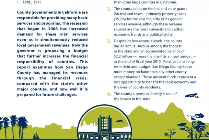 San Diego County Revenues and Reserves (2011)