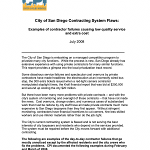 City of San Diego Contracting System Flaw (2008)