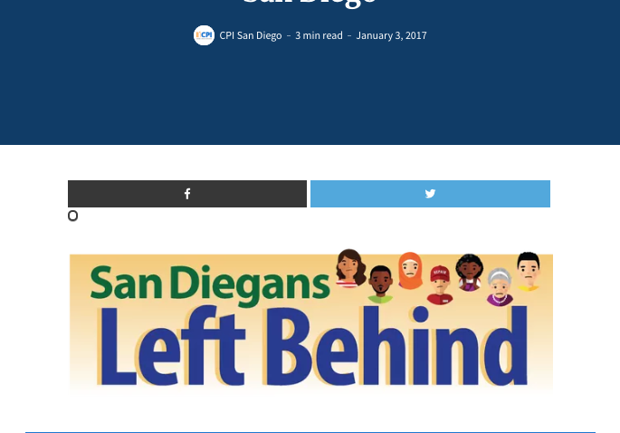 Web report: Poverty and Income in the City of San Diego (2017)